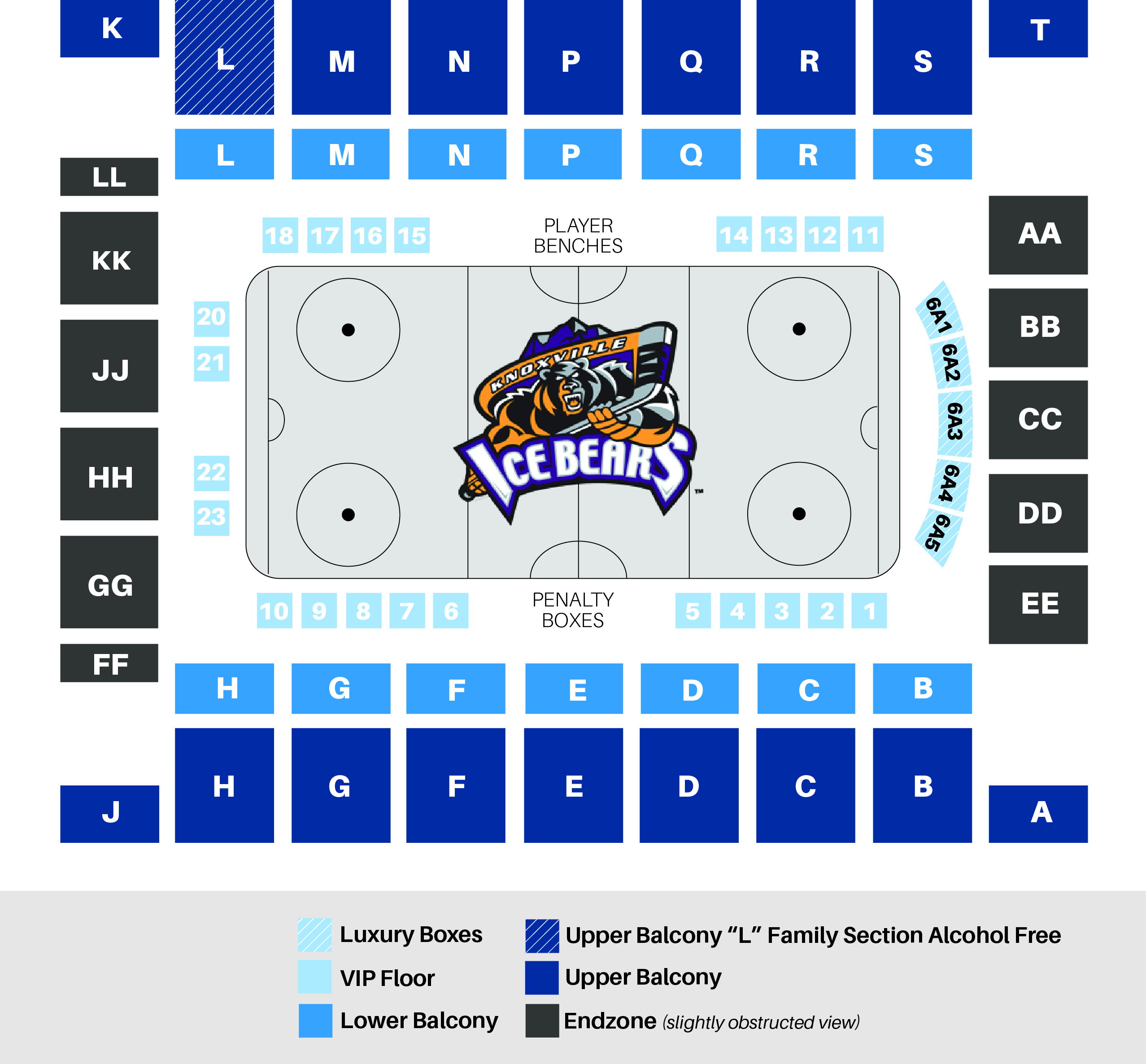 Knoxville Civic Coliseum Ice Bears Hockey Games NEW